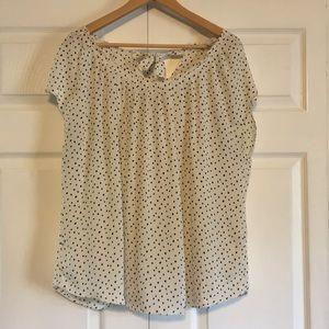 Lauren Conrad polkadot blouse size XXL